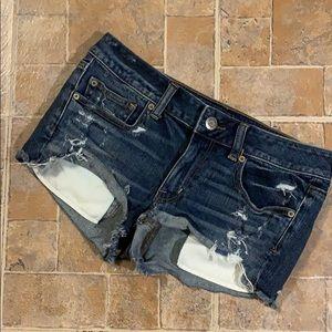 American Eagle shortie jean shorts size women's 6